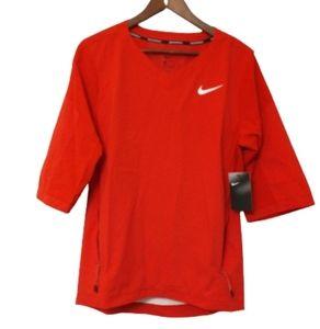 Nike Men's Red Baseball Jacket Small 3/4 Sleeve